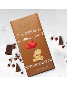 I Can't Bear to Be Without You Dark Almond Chocolate Bar