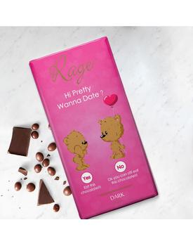 Hi Pretty Wanna Date Dark Chocolate Bar