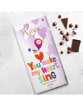 You Make My Heart Sing- Dark Chocolate Bar