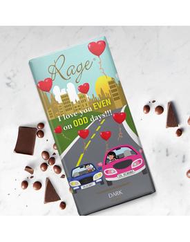 I Love you Even On Odd days - Dark Chocolate Bar
