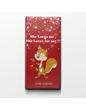 She Loves Me She Loves Me Not Dark Chocolate and Almond Bar