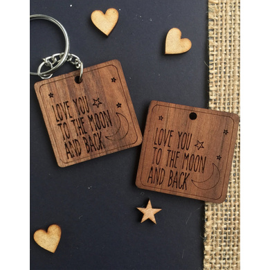 Moon and back Keychain-1