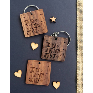 Moon and back Keychain-AAWK02