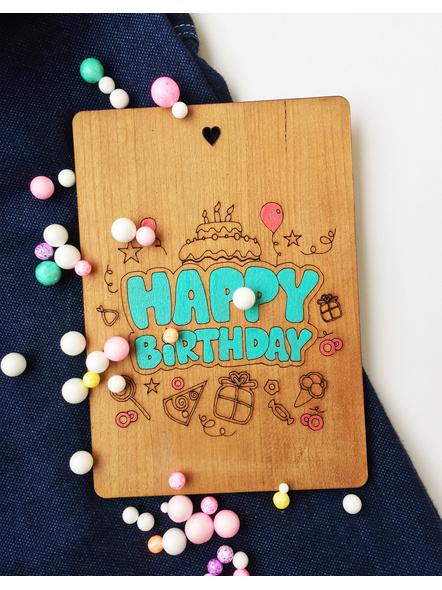 Happy Birthday Wooden Card-1