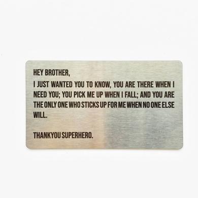 Brother Metal Card-RAKBH12