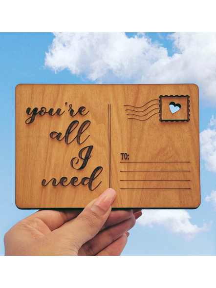 All I need Postcard-GIFTGC03