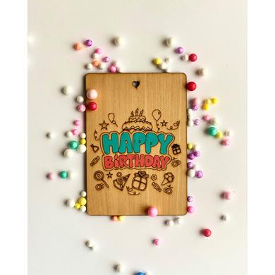 Happy Birthday Wooden Card-GIFTGC01