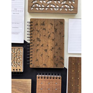 Florals Wooden Notebook-A5-1