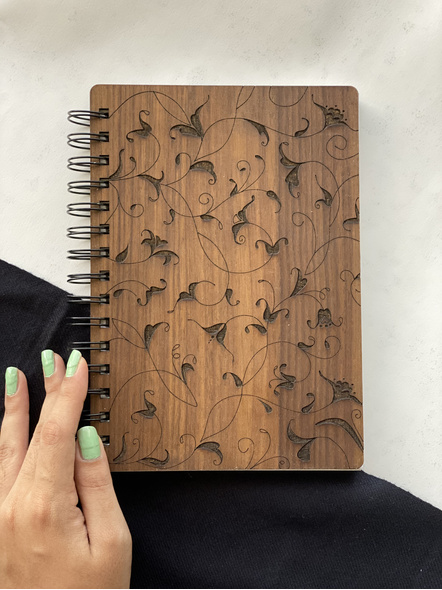 Florals Wooden Notebook-AAWN04-1