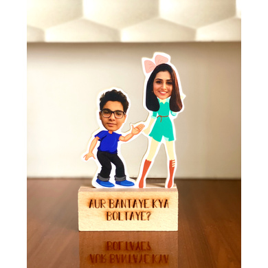 Photo Caricature - Brother and Sister-GIFTINGPC02