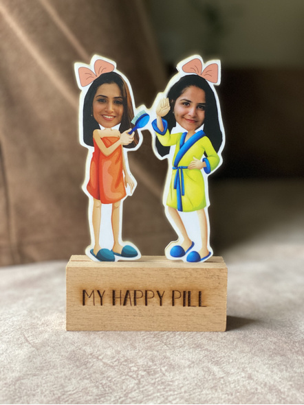 Girl Bestfriends or Sisters - Photo Caricature-1