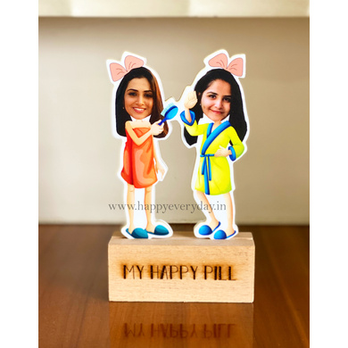 Girl Bestfriends or Sisters - Photo Caricature-GIFTINGPC03