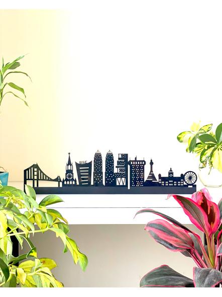 HappyEveryday Mumbai Skyline | Wall Decor | Wanderlust Mumbai Skyline | Skyline Wall Decor-WALLDECOR02