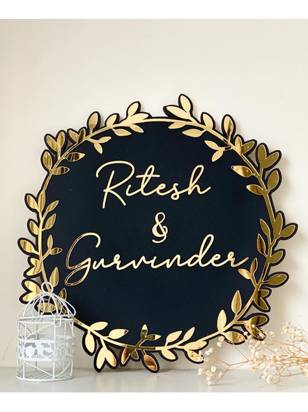 Black and Golden Classic Nameplate-Black + Gold-1
