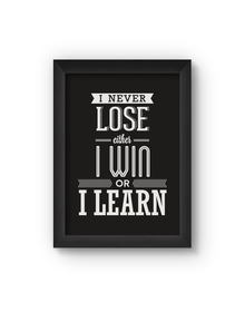 I Never Lose Poster (Wood, A4)