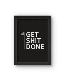 Get Done Poster (Wood, A4)