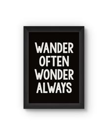 Wander Poster (Wood, A4)