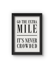 Go The Extra Mile Poster (Wood, A4)