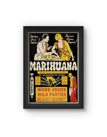 Marihuana Vintage Poster (Wood, A4)