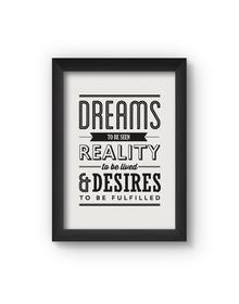 Dreams Poster (Wood, A4)