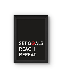 Set Goals Poster (Wood, A4)