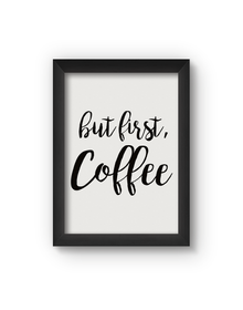 Coffee Poster (Wood, A4)