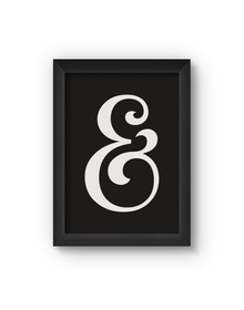 Ampersand Poster (Wood, A4)