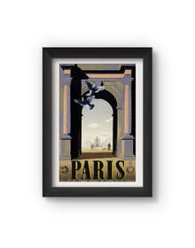 Paris Vintage Poster (Wood, A4)