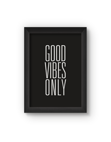 Good Vibes Only Poster (Wood, A4)