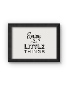 Enjoy Little Things Poster (Wood, A4)
