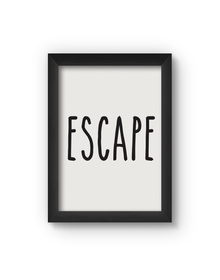Escape Poster (Wood, A4)