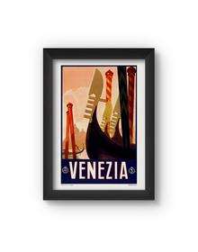 Venezia Vintage Poster (Wood, A4)