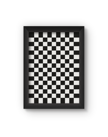 Checkered Poster (Wood, A4)