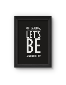 Oh Darling Poster (Wood, A4)