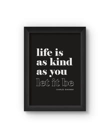 Life Is Poster (Wood, A4)