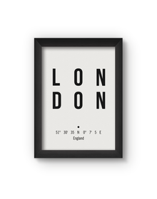 London Poster (Wood, A4)