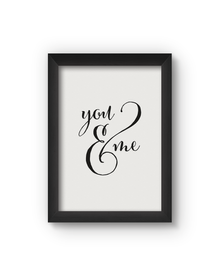 You And Me Poster (Wood, A4)