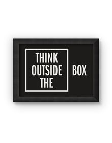 Think Outside The Box Poster (Wood, A4)