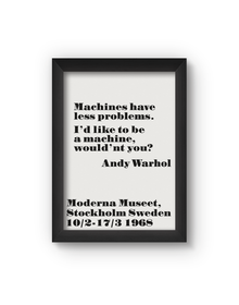 Machines Poster (Wood, A4)