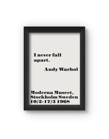 I Never Fall Apart Poster (Wood, A4)