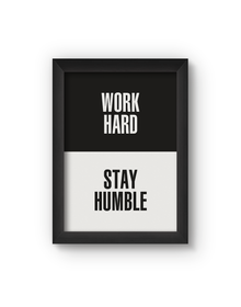 Work Hard Poster (Wood, A4)