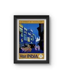 India Vintage Poster (Wood, A4)