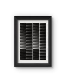 Geometric Poster (Wood, A4)