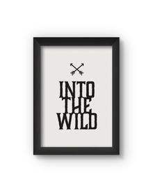 Into The Wild Poster (Wood, A4)