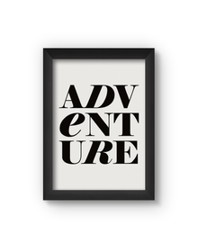Adventure Poster (Wood, A4)