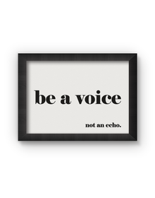 Be A Voice Poster (Wood, A4)