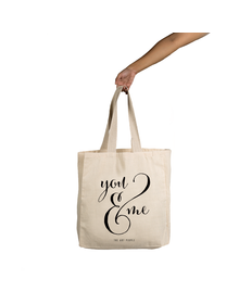 You & Me Tote (Cotton Canvas, 14x14