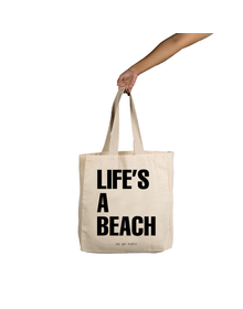 Life'S A Beach Tote (Cotton Canvas, 14x14