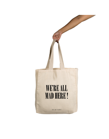 Mad Here  Tote (Cotton Canvas, 14x14