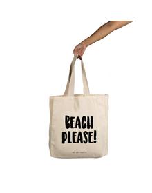 Beach Please Tote (Cotton Canvas, 14x14
